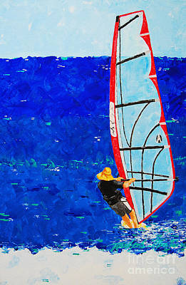 Wind Surfing Painting - Dreamer Disease IIi by Art Mantia