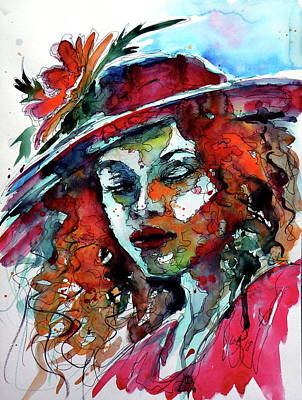 Painting - Dreamer Girl by Kovacs Anna Brigitta