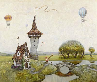Observer Painting - Dreamer by Natalya Mosyagina