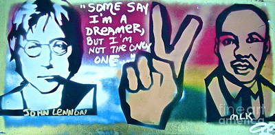Dr. Martin Luther King Jr Painting - Dreamers by Tony B Conscious