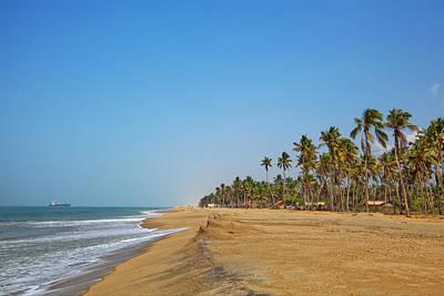 Photograph - Dreamful Bathing Beach At The Coast Near Marawila On The Tropical Island Sri Lanka by Regina Koch
