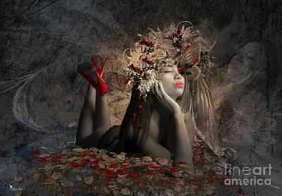Digital Art - Dreaming  by Ali Oppy