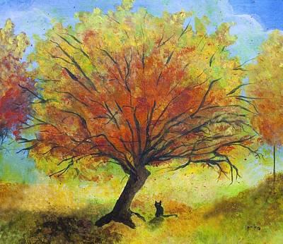 Dreaming Amber Art Print