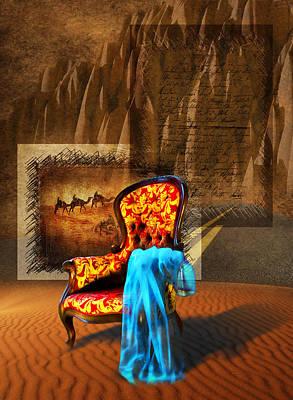 Camel Digital Art - Dreaming Chair by Svetlana Sewell