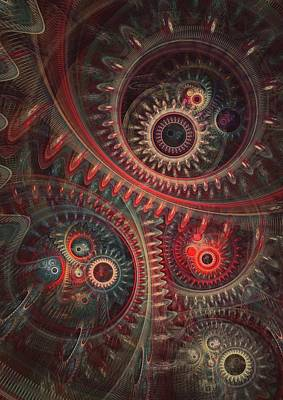 Abstract Digital Digital Art - Dreaming Clocksmith by Martin Capek