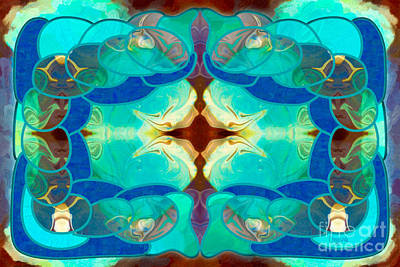 Digital Art - Dreaming Desires Abstract Digital Magic By Omashte by Omaste Witkowski