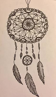 Dreamcatcher Drawing - Dreaming by Eden Brinegar
