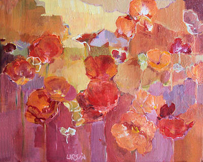 Painting - Dreaming Flowers by Diane Ursin