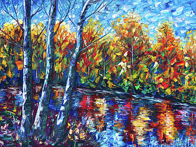 Digital Art - Dreaming Forest Palette Knife by Lena  Owens OLena Art