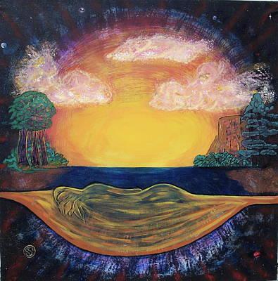 Dreaming Goddess Art Print by Eric Singleton