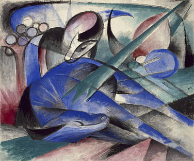 Painting - Dreaming Horse by Franz Marc
