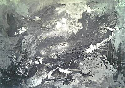 Painting - Dreaming In Black And White by Joy Fahey