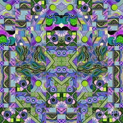 Dreaming In Green - An Altered T J O D Series Mandala Art Print by Helena Tiainen