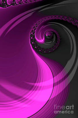 Digital Art - Dreaming In Purple by Steve Purnell