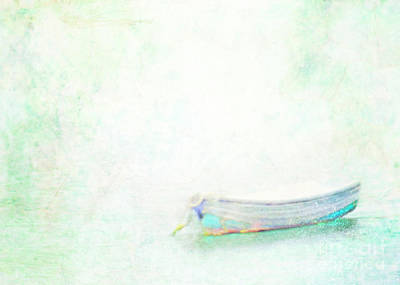 Rowboat Digital Art - Dreaming In The Cove by Hal Halli