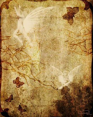 Dreaming In The Fairies' World Art Print by Emma Alvarez