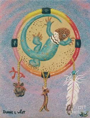 Dreaming Lizard Medicine Wheel Original