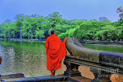 Photograph - Dreaming Monk by Rick Bragan