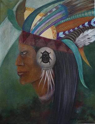 Painting - Dreaming Native by Gonca Yengin