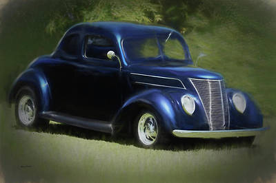 Digital Art - Dreaming Of A 1937 Ford Coupe by Ernie Echols
