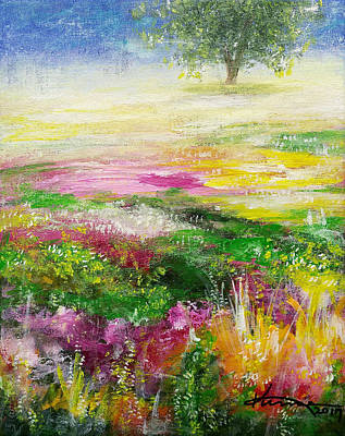 Park Scene Painting - Dreaming Of A Spring Day by Kume Bryant