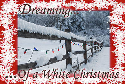 Photograph - Dreaming Of A White Christmas by Debra and Dave Vanderlaan