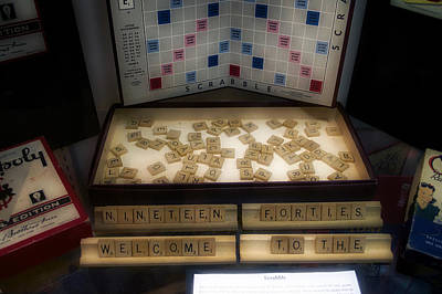 Tom Parker Photograph - Dreaming Of A Word Scrabble Board Game by Thomas Woolworth