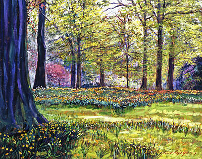 Spring Landscape Painting - Dreaming Of April by David Lloyd Glover