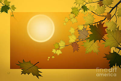 Brown Tones Digital Art - Dreaming Of Autumn by Peter Awax