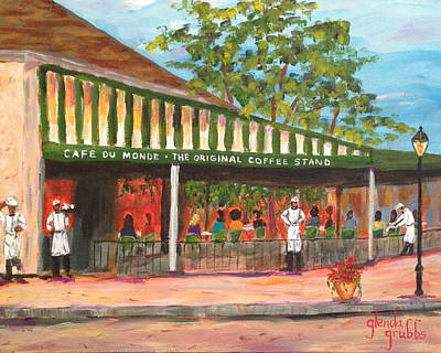Cafe Du Monde Painting - Dreaming Of Cafe Du Monde by Glenda Grubbs