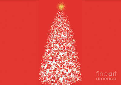 Digital Art - Dreaming Of Christmas Trees 1 by Conni Schaftenaar