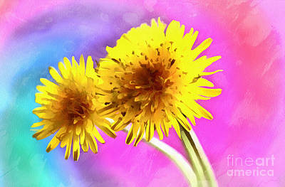 Abstract Digital Photograph - Dreaming Of Dandelions by Krissy Katsimbras