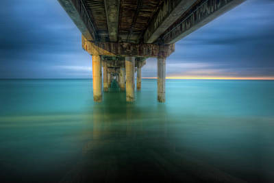 Photograph - Dreaming Of Dawn At The Pier by Debra and Dave Vanderlaan