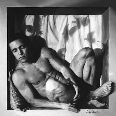 Dreaming Of Doves Art Print by E Gibbons