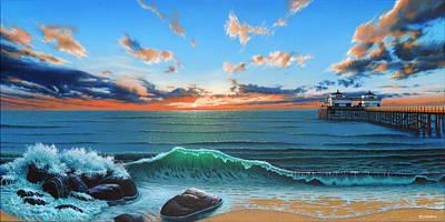Dreaming Of Malibu Beach Original by Ross Edwards
