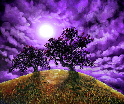 Oak Tree Painting - Dreaming Of Oak Trees by Laura Iverson