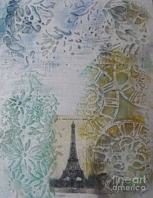 Image Transfer Mixed Media - Dreaming Of Paris by Leslie Jennings