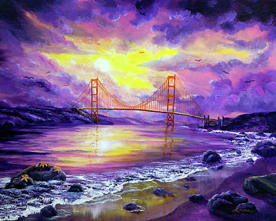Golden Gate Painting - Dreaming Of San Francisco by Laura Iverson