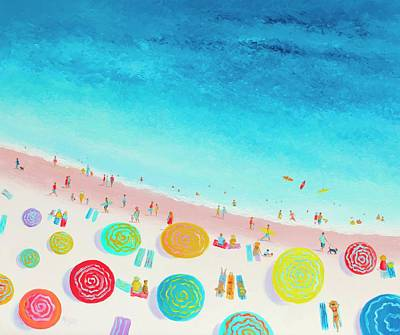 Impressionism Paintings - Dreaming of sun, sand and sea by Jan Matson