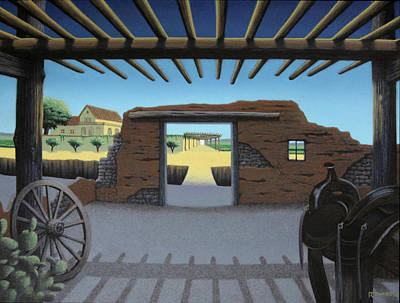 Southwest Gate Painting - Dreaming Of The Way Out by Ross Edwards