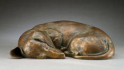 Bronze Dachshund Sculpture - Dreaming Of Tomatoes Ms by Joy Beckner