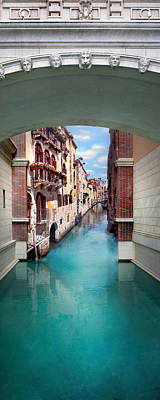 Dreaming Of Venice Vertical Panorama Art Print by Az Jackson