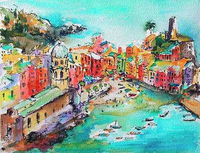 Painting - Dreaming Of Vernazza Cinque Terre Italy by Ginette Callaway