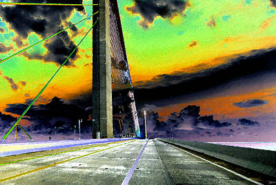 Sunshine Skyway Bridge Wall Art - Painting - Dreaming Over The Skyway by David Lee Thompson