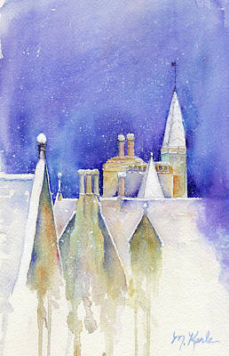 Painting - Dreaming Spires by Marsha Karle