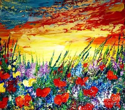 Poppies Painting - Dreamland by Teresa Wegrzyn
