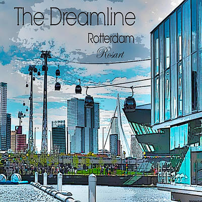 Dreamline Rotterdam Art Print by Rosa Maria Intorre