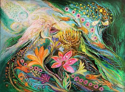 Dreams About Chagall. The Sky Violin Art Print by Elena Kotliarker