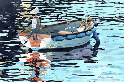 Painting - Dreams Adrift, Fishing Boat, Boat Painting, Boat Print, Boat Art by LeAnne Sowa