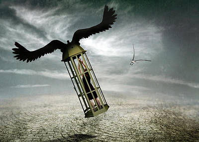 Surreal Photograph - Dreams Are Never Real. by Ben Goossens